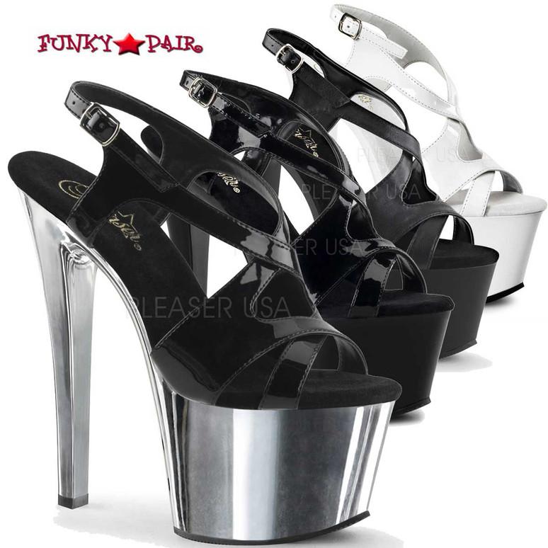 Pleaser | SKY-330, Criss Cross Exotic Dancer Shoes