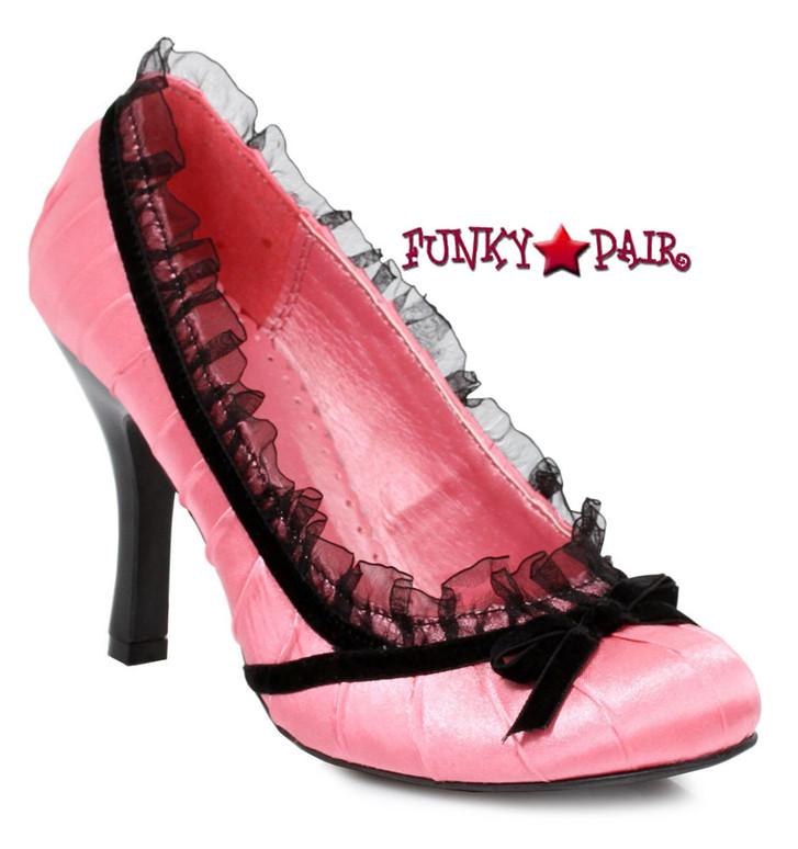 Ellie Shoes | 406-Doll, 4 Inch Satin Pump Pink