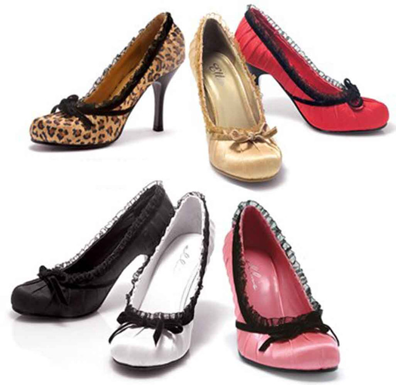 Ellie Shoes | 406-Doll, 4 Inch Satin Pump