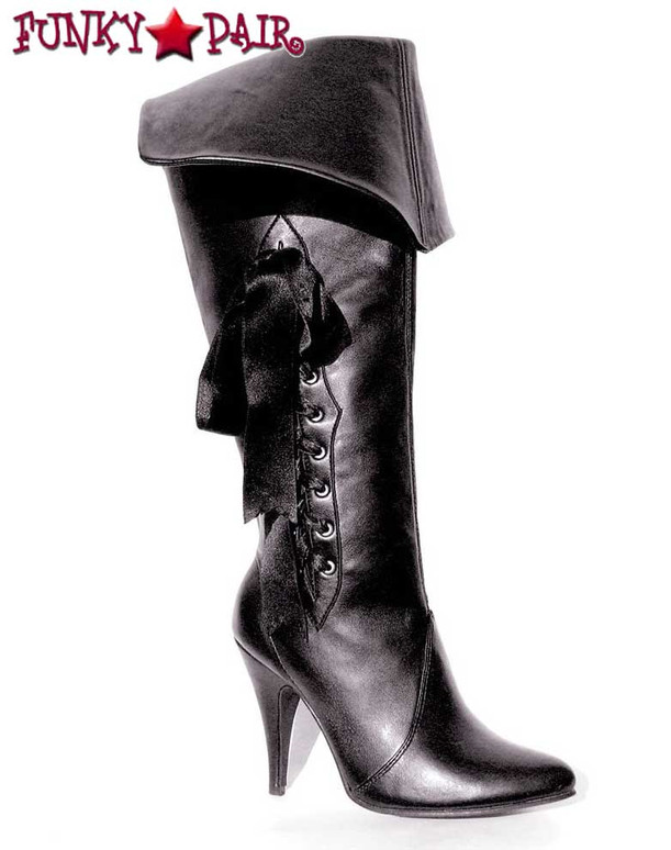Ellie Shoes 418-Pirate, Women's Pirate Boot with Purple Lace