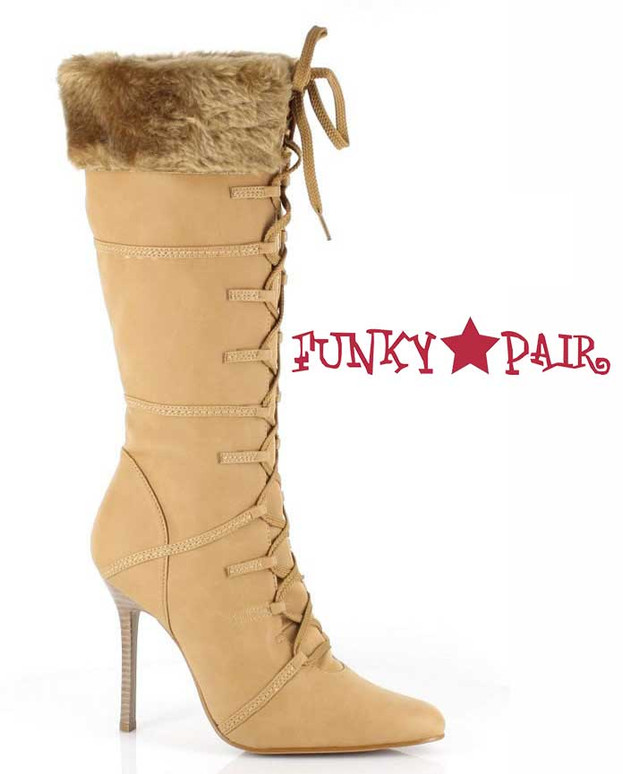 Tan 433-Viking 4 Inch Boot With Fur Tan | 1031 Shoes
