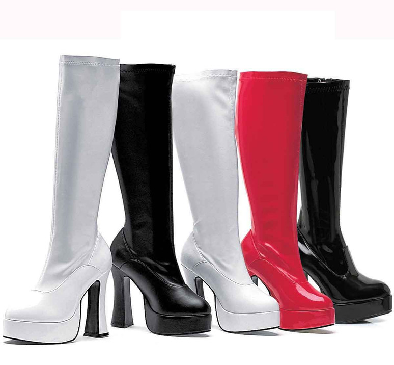 "5"" Knee High GoGo Boot Ellie Shoes | E-Chacha"