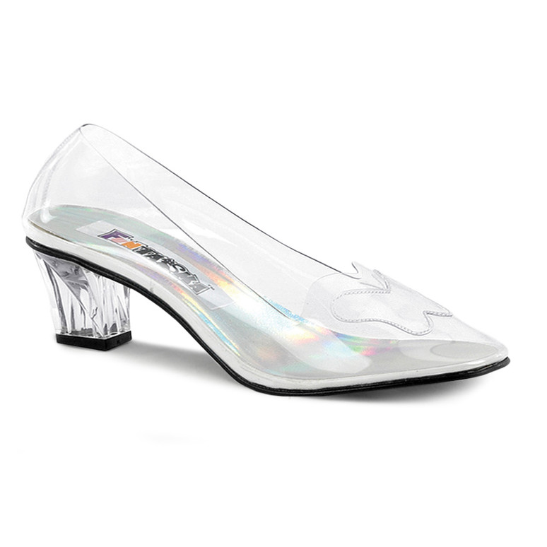 Women's Clear Crystal Shoes CRYSTAL-103, made by Funtasma