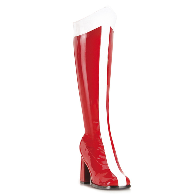 GOGO-305, 3 Inch Heel Wonder Woman Knee High Boot by FUNTASMA