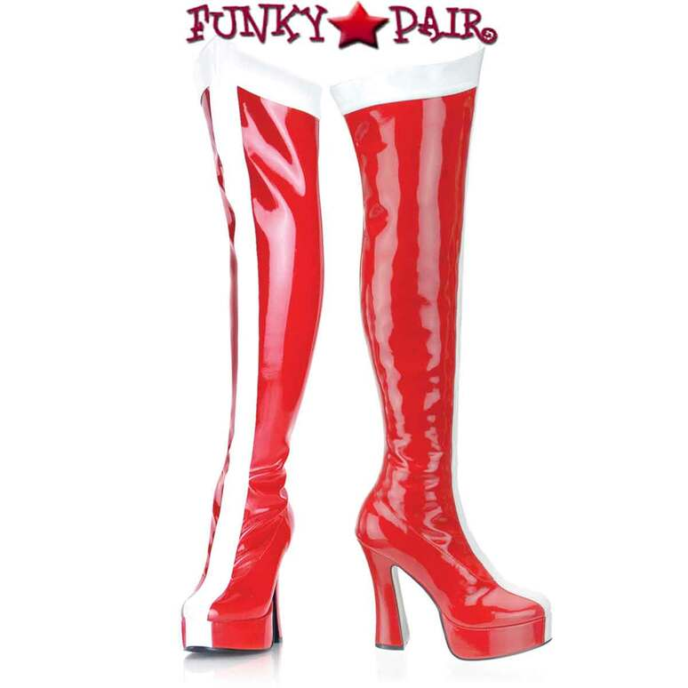 ELECTRA-2090, Wonder Woman Thigh High Boot   Funtasma