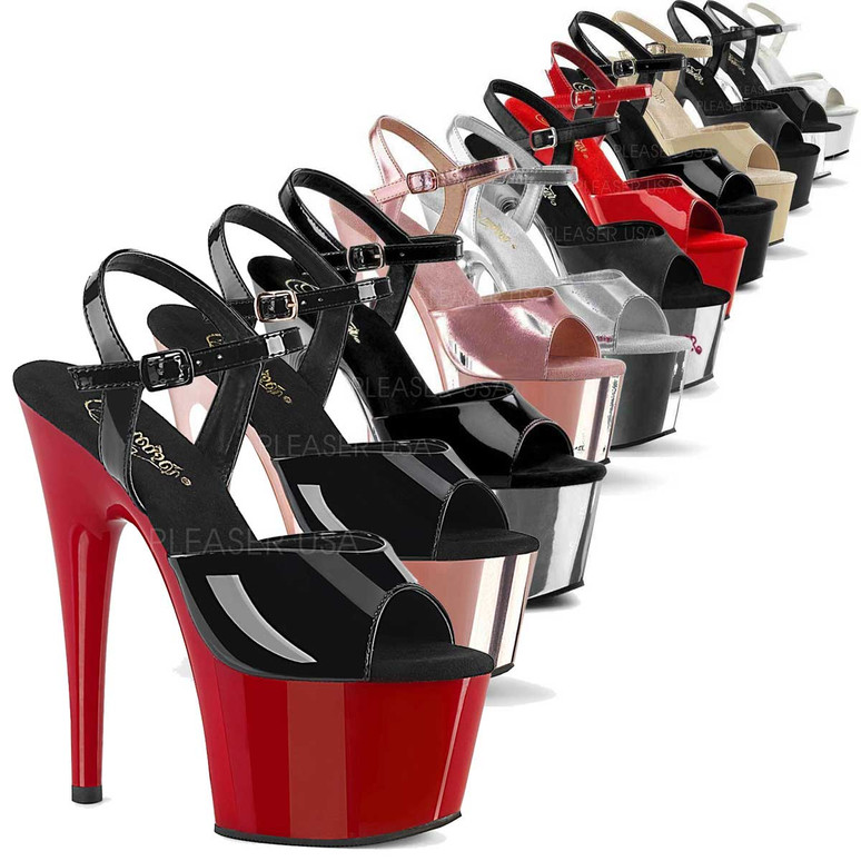 Pleaser Shoes | ADORE-709, Platform Dancer Shoes