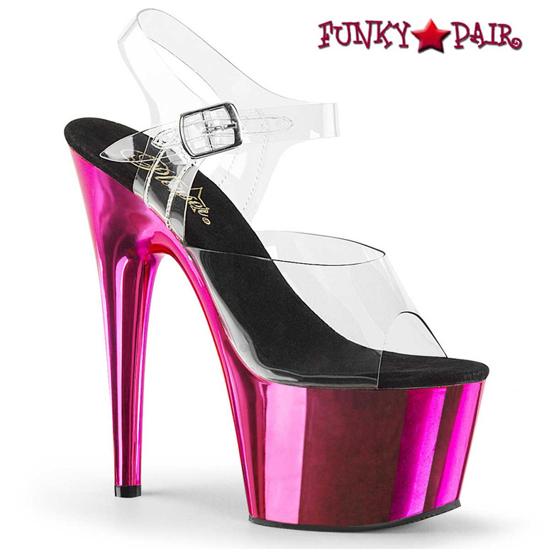 Hot Pink CHROME Stripper Shoes