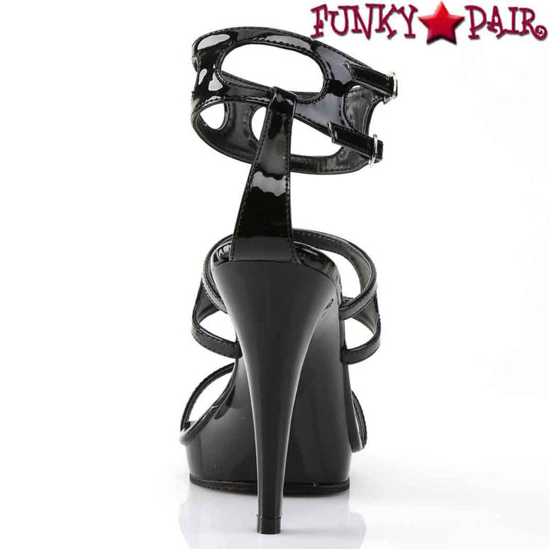 "FLAIR-458, 4.5"" Ladies Party Shoes Fabulicious Back View"