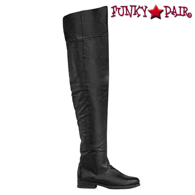 Maverick-8824, Men's Flat Thigh High Boots by Funtasma