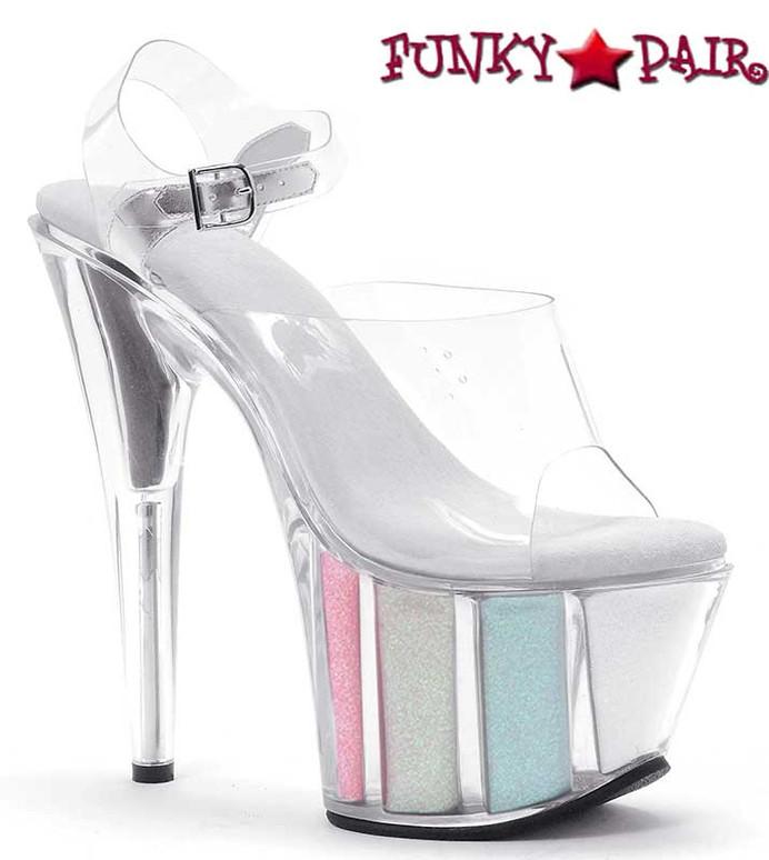 Ellie Shoes | 709-Glitter 7 Inch Pole Fitness Shoes Multi Color