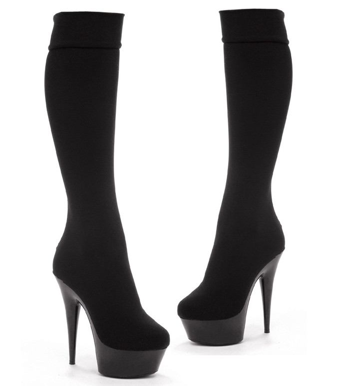 "Ellie Shoes | 609-Lycra 6"" Stretchy Knee High Boot"