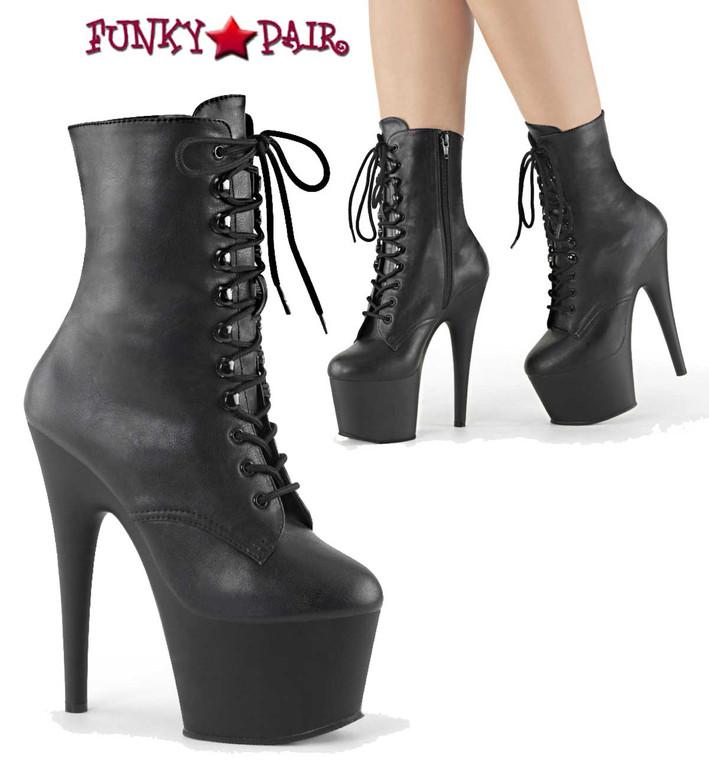 Pleaser Boots ADORE-1020 color black faux leather