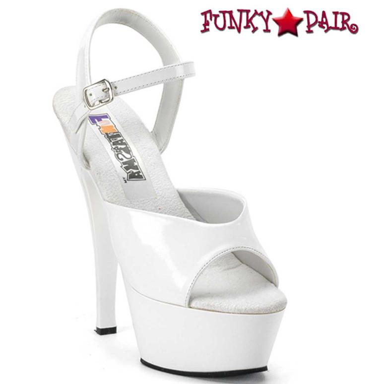 JULIET-209, White Ankle Strap Platform Sandal | Funtasma