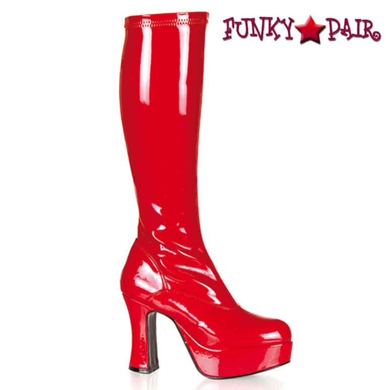 Red EXOTICA-2000, Platform Gogo Boot | Pleaser