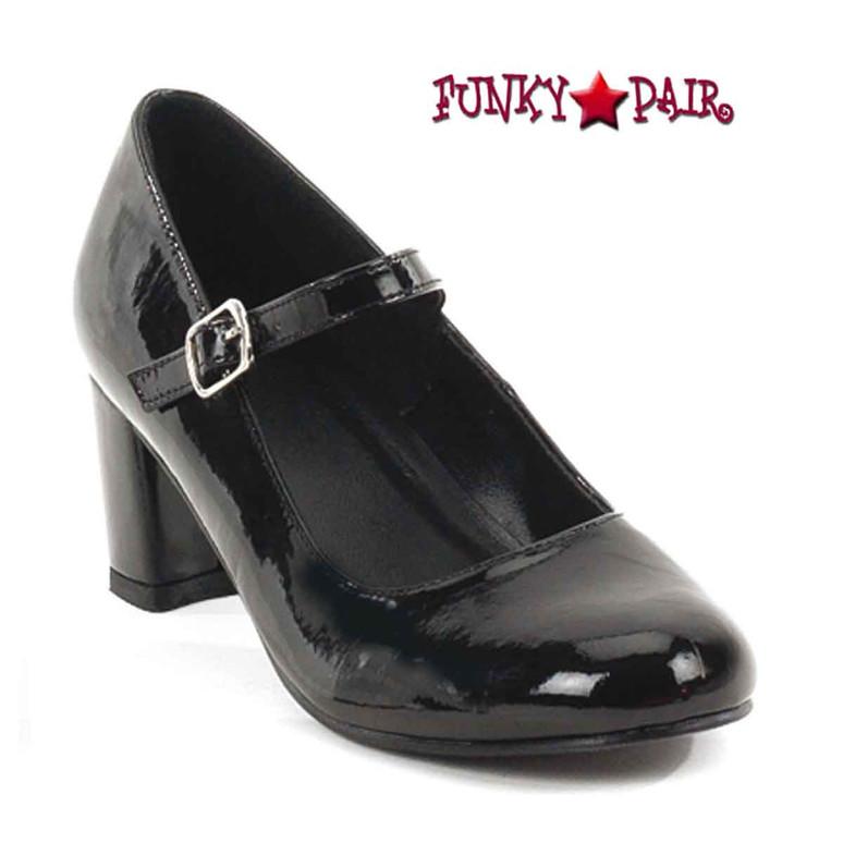 SCHOOLGIRL-50, Black Mary Jane Shoes