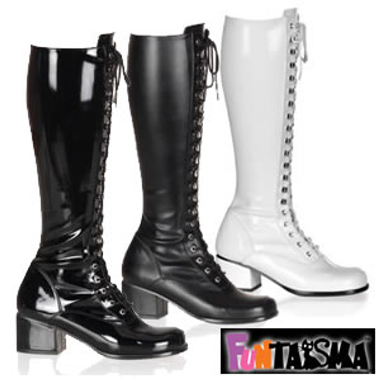 Retro-302, Block Heel Knee High Boot | Funtasma