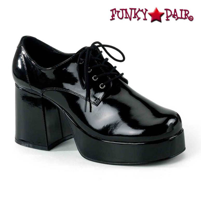 Black Men Disco Platform Shoes  | Funtasma JAZZ-02