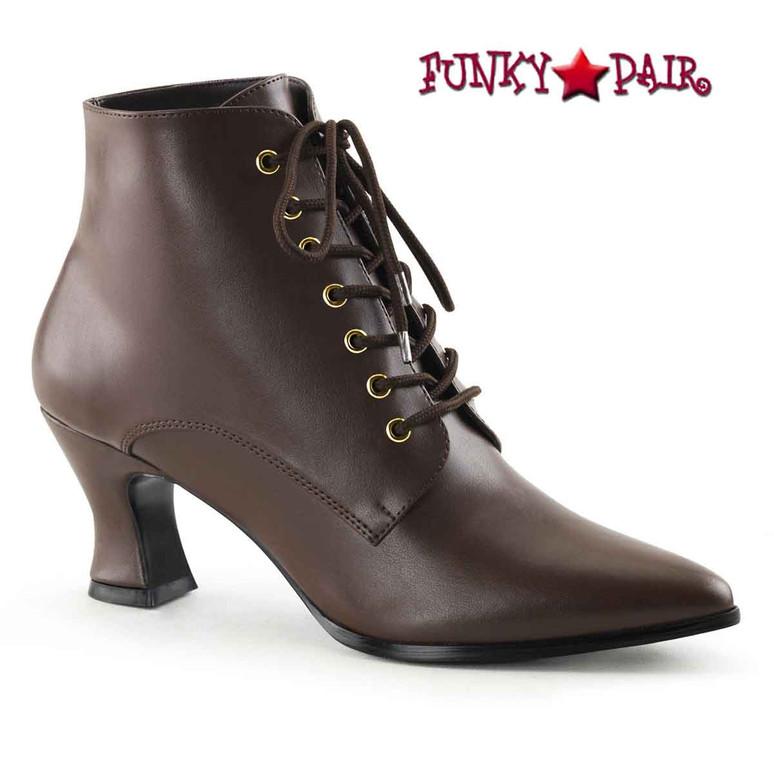 Brown Victorian-35, Women Victorian Boot   Funtasma