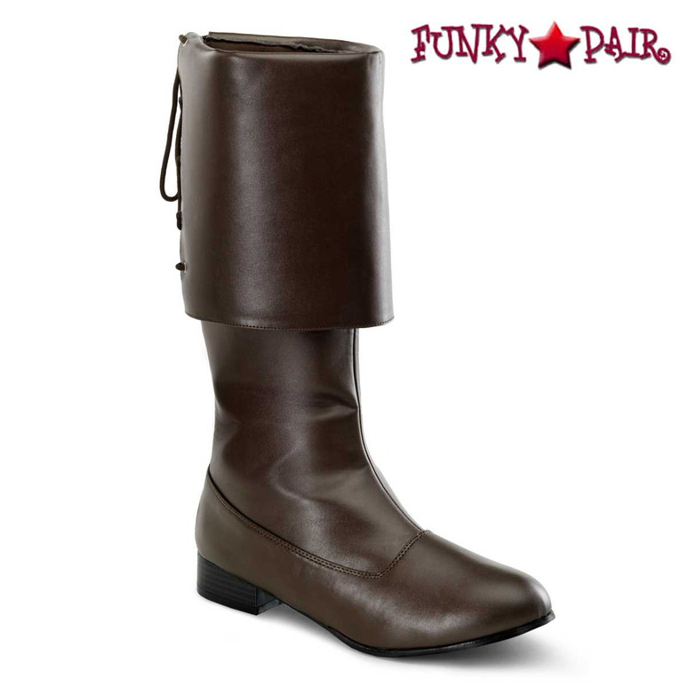 Brown Men's Pirate Boots | Funtasma PIRATE-100