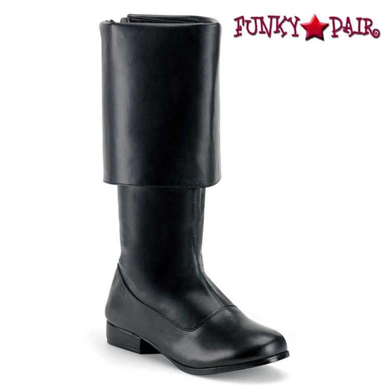 Black Men's Pirate Boots | Funtasma PIRATE-100