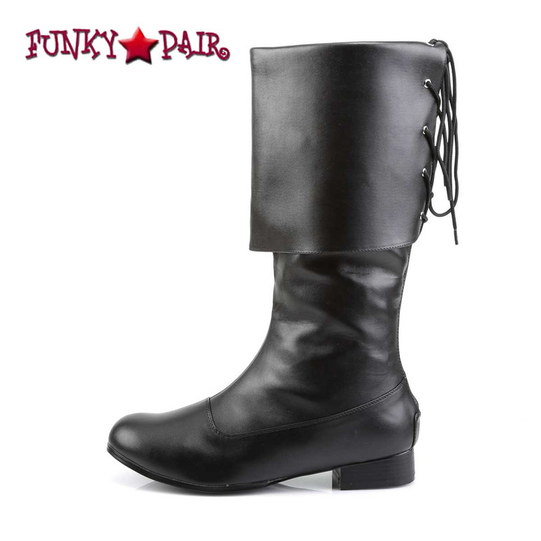 Side View PIRATE-100, Men's Pirate Boots | Funtasma
