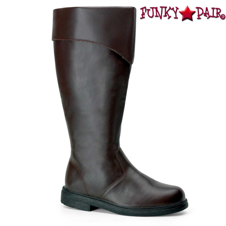 Brown Men's Pirate Boots | Funtasma Captain-105