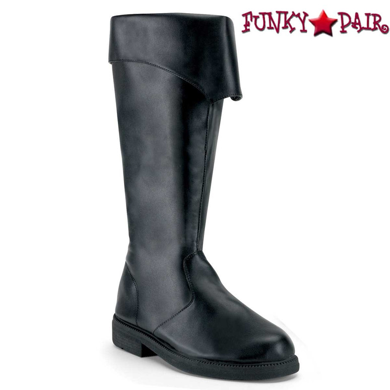 Black Men's Pirate Boots | Funtasma Captain-105