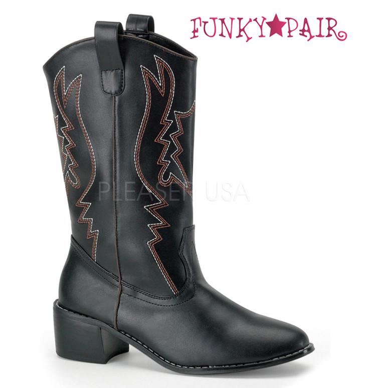 Men's Black Cowboy Boots