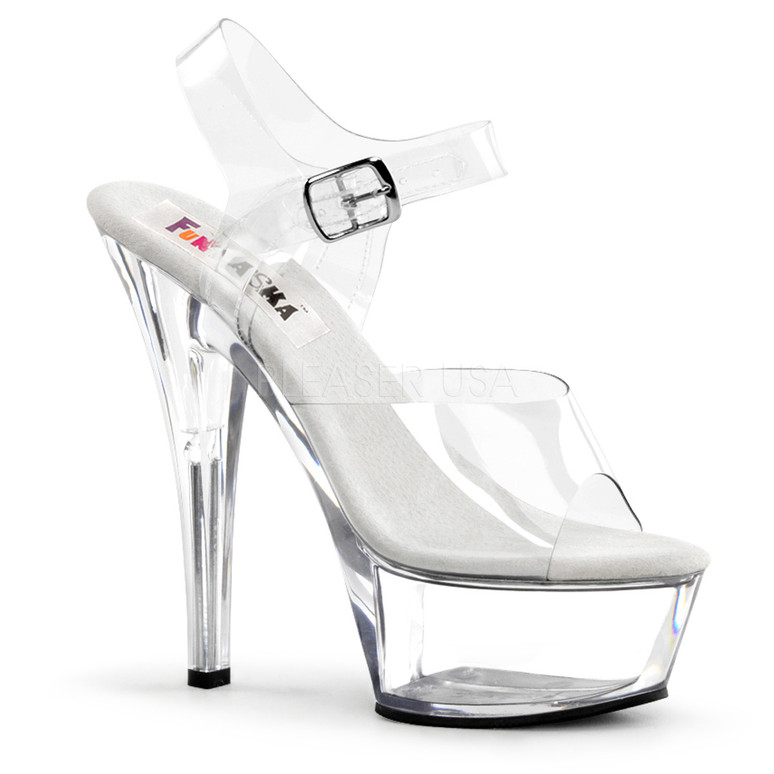 BROOK-208, Clear Halloween Platform Sandal