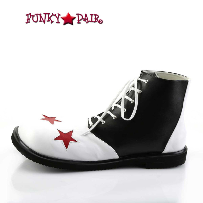 CLOWN-02, Clown Shoe with Stars   Funtasma Inner Side View
