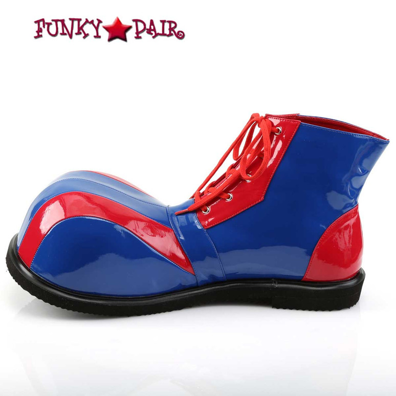 CLOWN-05 Bump Toe Shoes by Funtasma Inner Side View