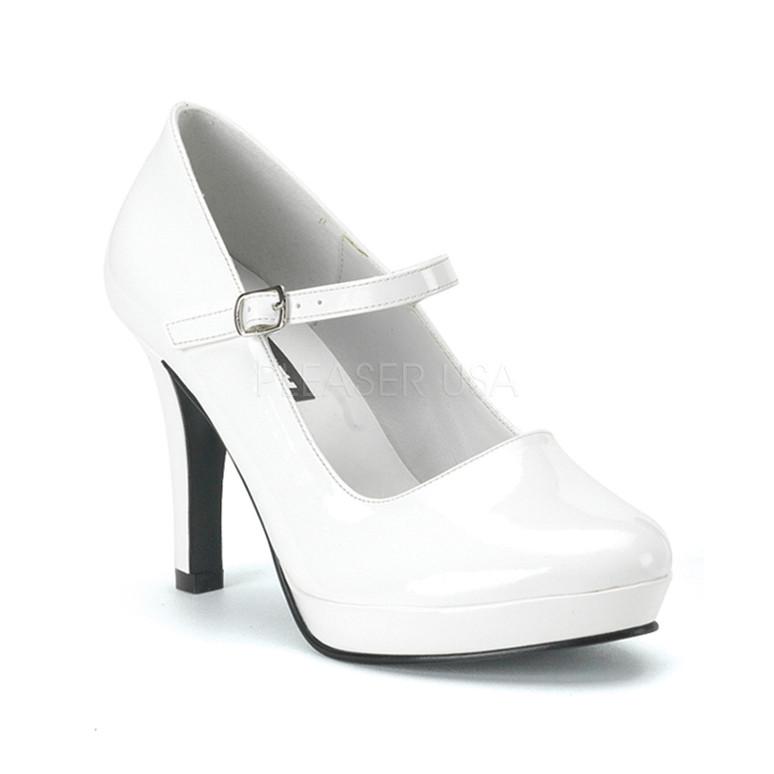 CONTESSA-50, White Platform Mary Jane Shoe