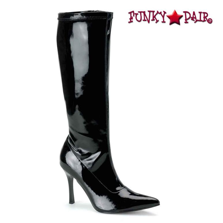 Black Knee High Heel Boots | Funtasma Lust-2000