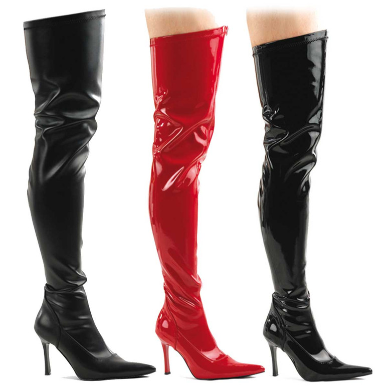 Pleaser | Lust-3000, Stretch Thigh High Boots