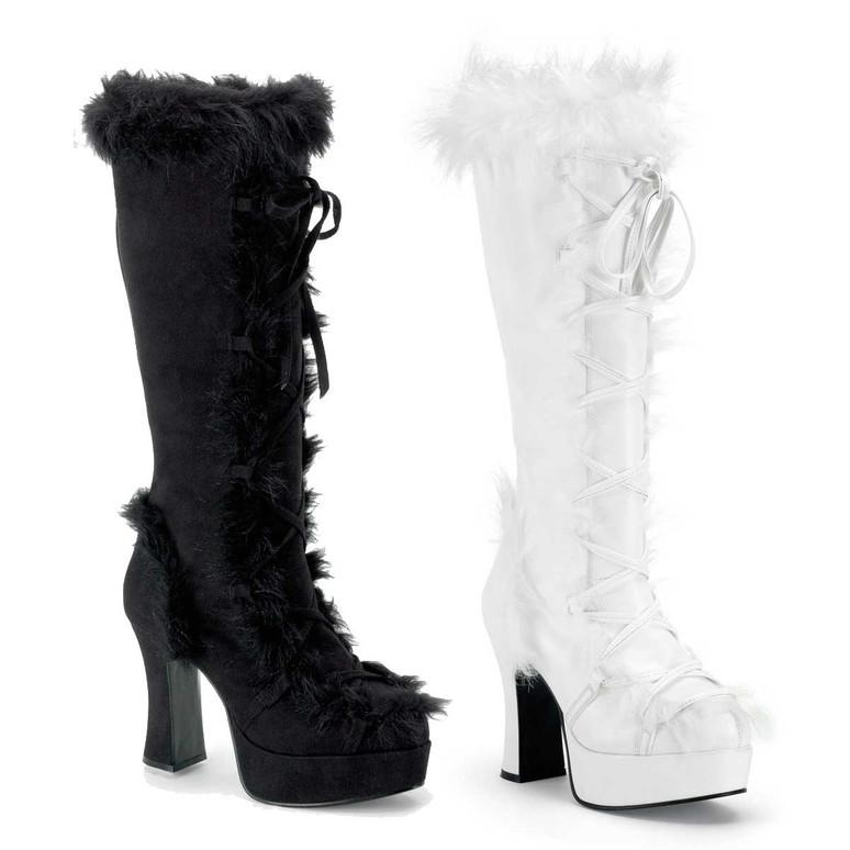 MAMMOTH-311 Knee High Fur Boot   Funtasma
