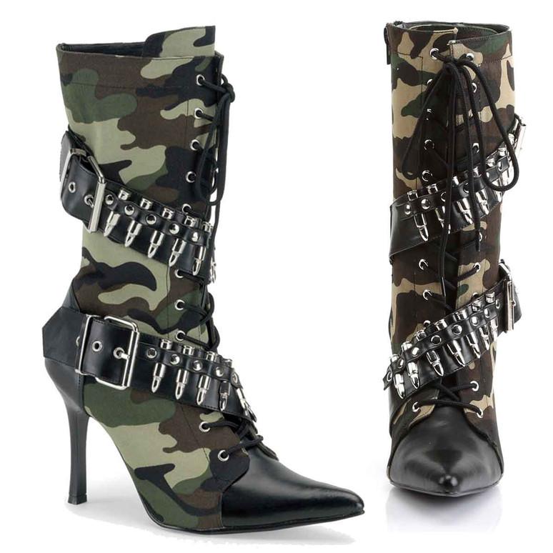 Women's Bullets Military Costume Boot | Funtasma MILITANT-128
