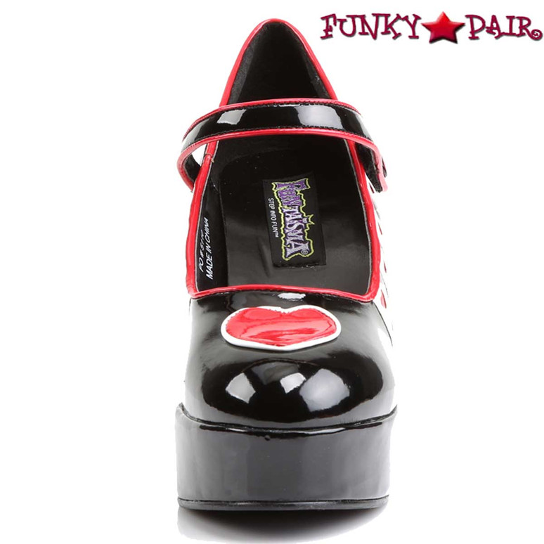 Funtasma | QUEEN-55, Front View Queen of Hearts Platform Cosplay Shoes