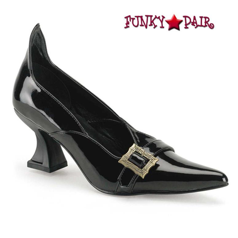 Funtasma | SALEM-06, Women's Witch Costume Shoes color Black Patent
