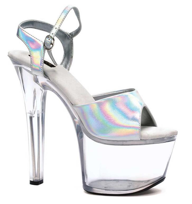 """Ellie Shoes 711-Flirt-H 7"""" Exotic Dancer Heel"""
