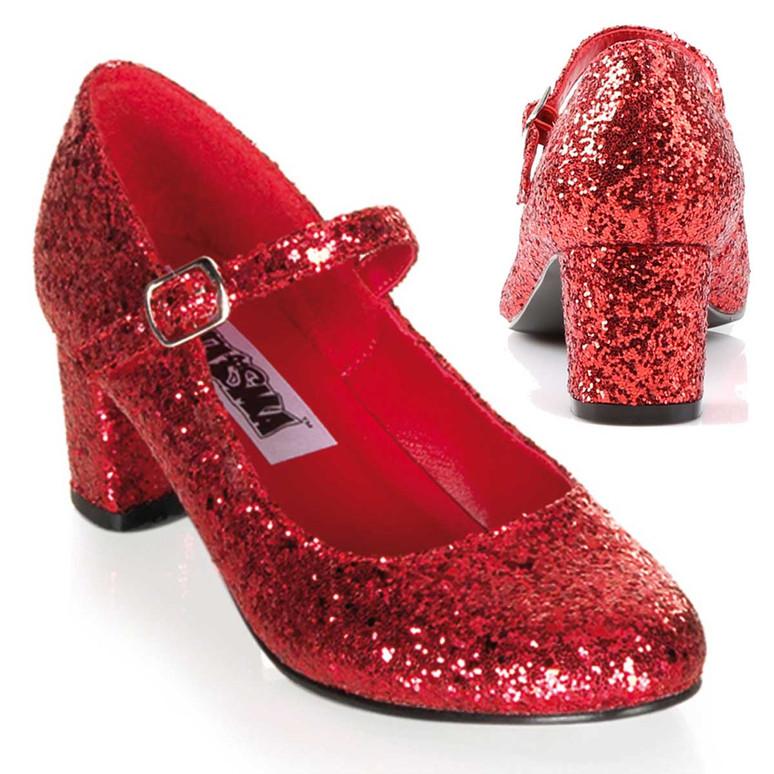 Women's SCHOOLGIRL-50G, Glitters Costume Shoes | Funtasma