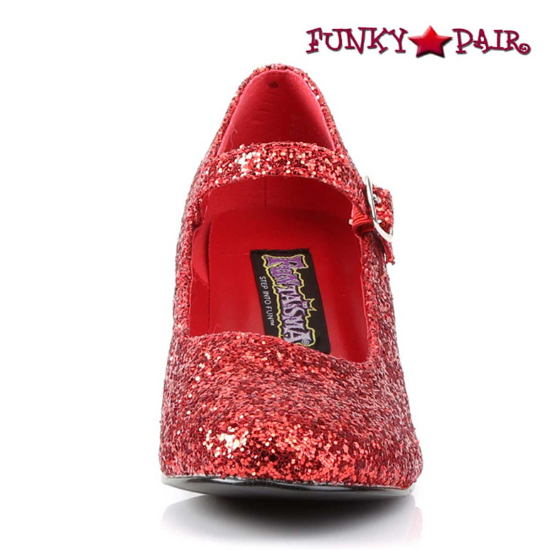 Funtasma | Women's SCHOOLGIRL-50G, Glitters Costume Shoes Front View