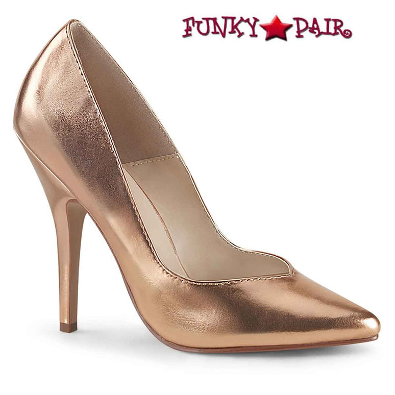 Seduce-420, 5 Inch Rose Gold Classic Pumps by Pleaser