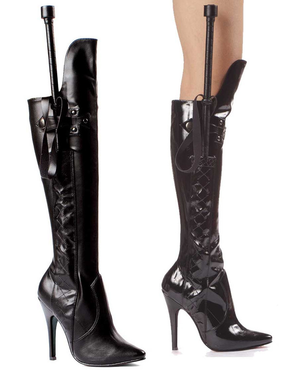 """511-Sadie 5"""" Heel Over the Knee Boot w/Whip 
