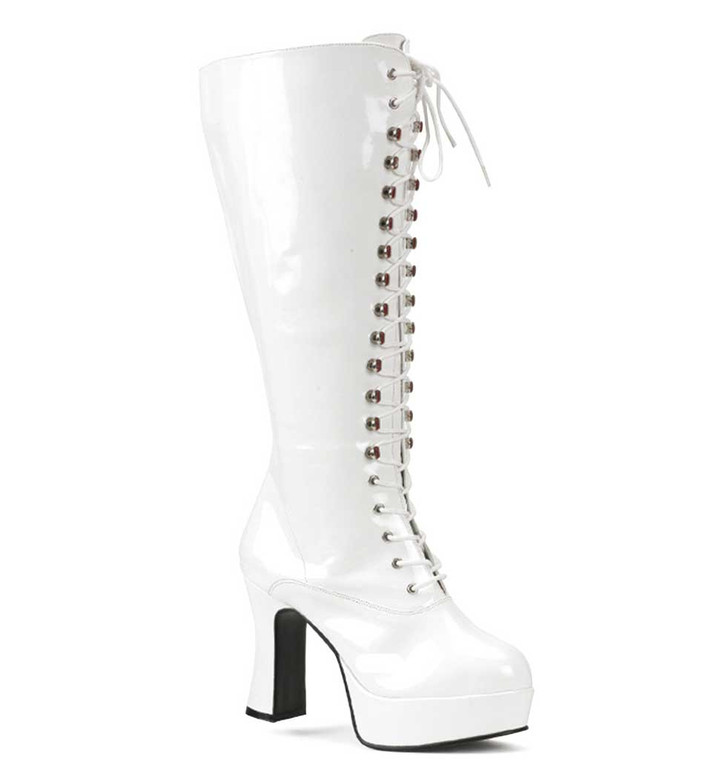 Wide Width Platform Laces GoGo Boot Exotica-2020X, Pleaser Boots