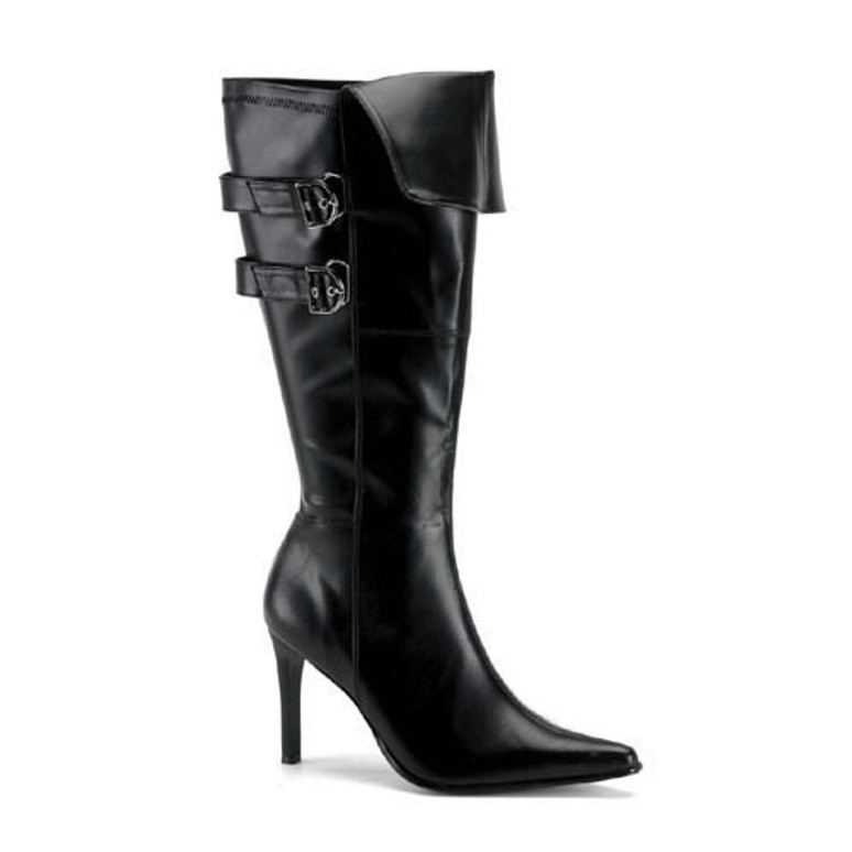 Pirate-125X, Wide Width Buckles Knee High Boot