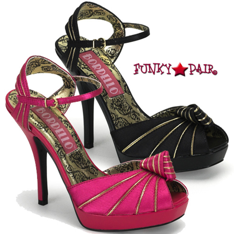 PREEN-16, Peep Toe Knotted Platform Sandal Made By Bordello