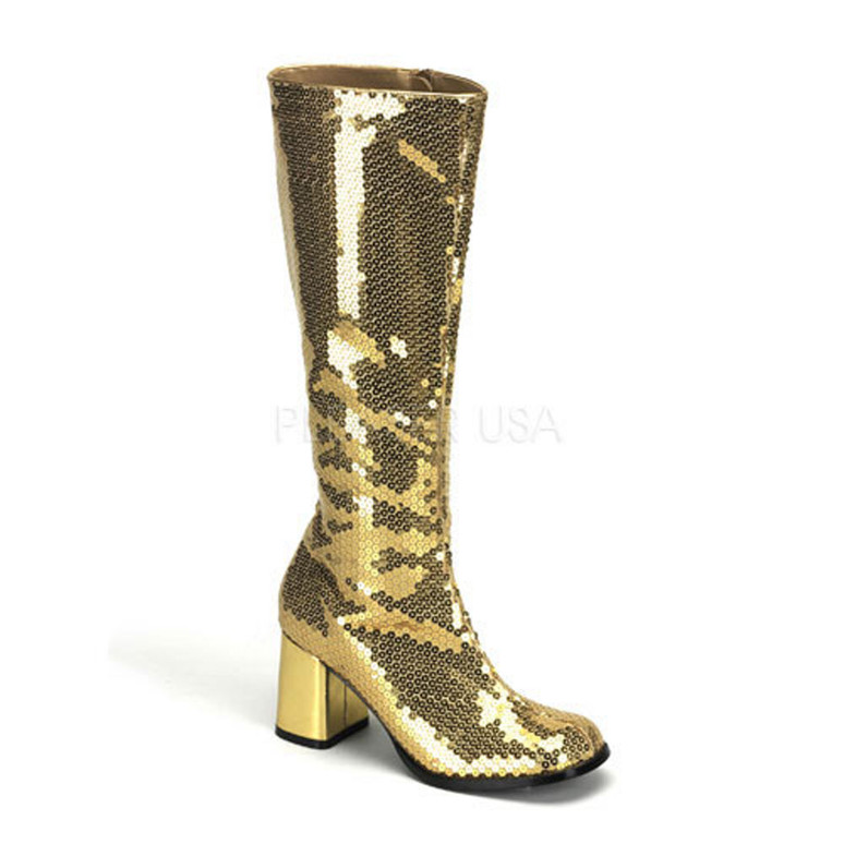 GOLD Sequins GOGO BOOTS