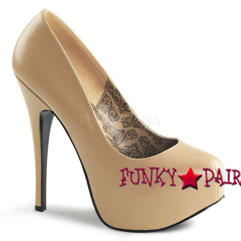 Bordello | TEEZE-06, Platform Pump Bordello Shoes color Tan