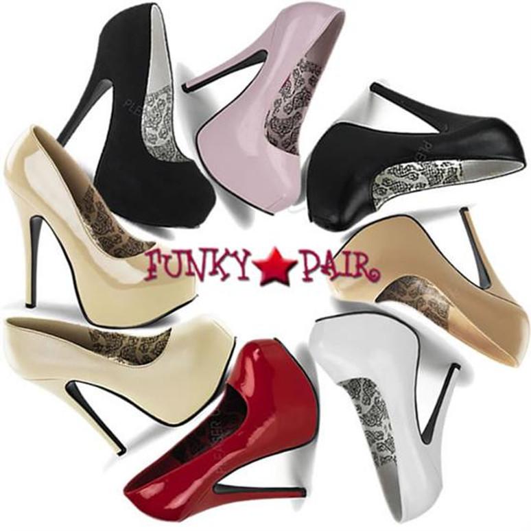 TEEZE-06, 5.75 Inch High Heel with 1.75 Inch Platform Bordello Shoes