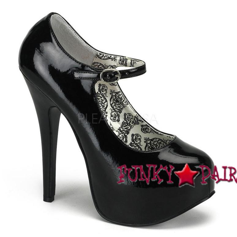 TEEZE-07, 5.75 Inch Stiletto High Heel with 1.75 Inch Mary Jane Platform Pump